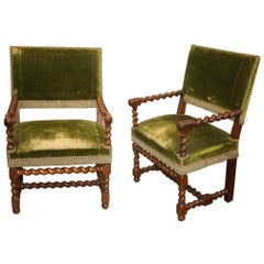 19th Century Louis XIII Style Chairs