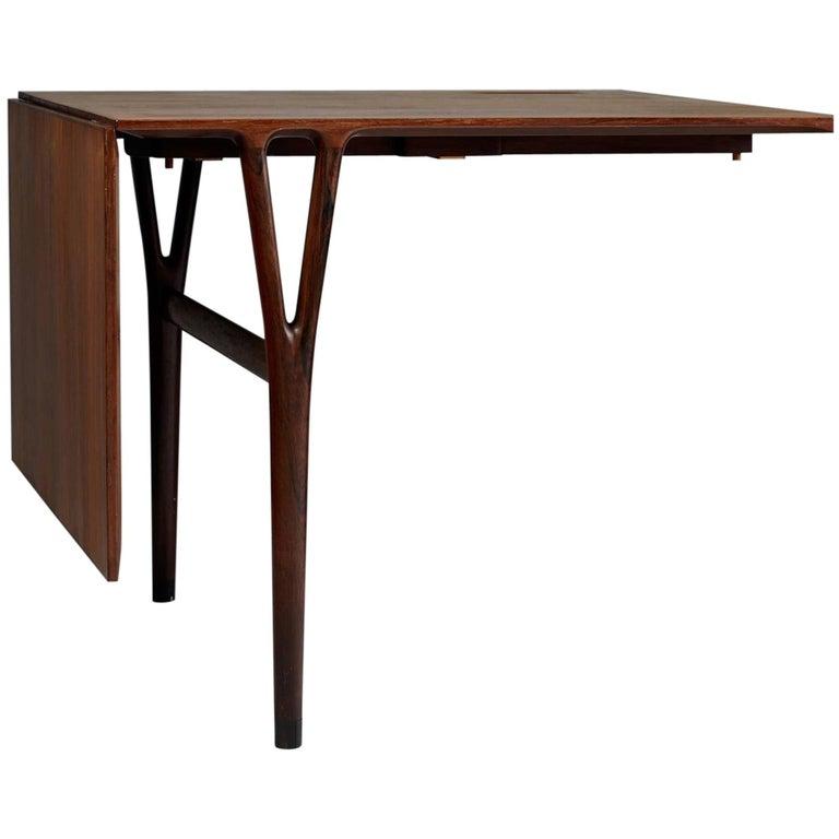Wall Hung Table Designed by Helge Vestergaard Jensen, Denmark, 1950s