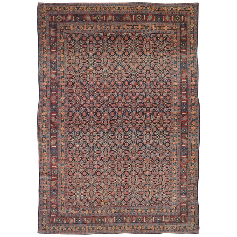Early 20th Century Antique Persian Tabriz Senneh Rug