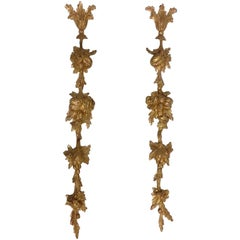 Pair of 18th Century Carved Giltwood Wall Appliques
