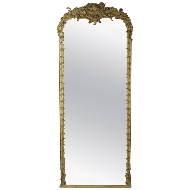 19th century monumental baroque style mirror for sale at for Floor mirror italian baroque rococo style