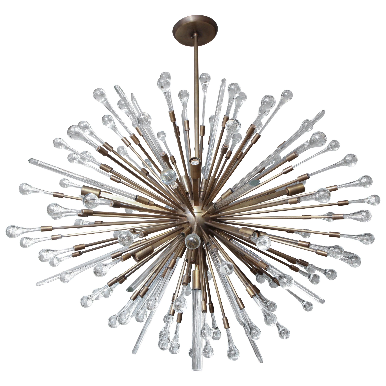 Custom Teardrop Sputnik in Antique Brass