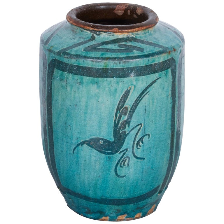 Antique Chinese Ceramic Food Jar With Bird And Flower Images At 1stdibs