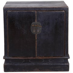 Antique Chinese Book Cabinet, Clean Lines, Original Lacquer