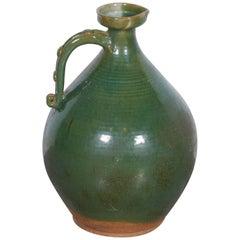 Large, Brightly Glazed Antique Chinese Ceramic Wine Jar
