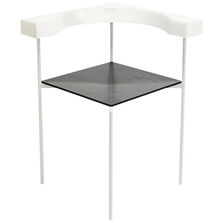 Contemporary Corner Chair in Marble