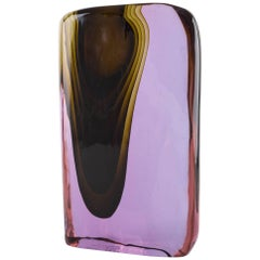 Cenedese Murano blown by Tosi designed Antonio da Ros sculpture vase