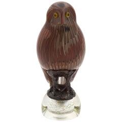 Venini Murano Italian glass Toni Zuccheri bird Owl