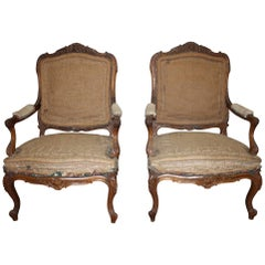 Gorgeous 19th Century Pair of French Armchairs
