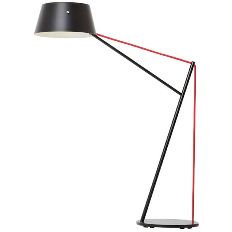 Spar Junior Table Or Task Lamp In Black With Red Cord By Resident For Sale At 1stdibs