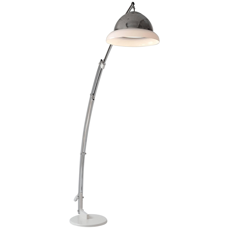 Reggiani Height Ajustable Chrome Floor Lamp , 1960s , Italia