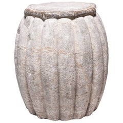 Chinese Melon Form Stone Drum