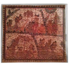 Balinese Langse Art Cloth in Lucite