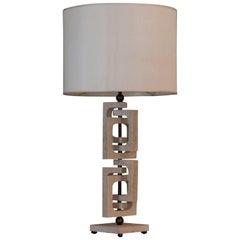 """AdHoc 4"" Flair Edition Tall Travertine Lamp"