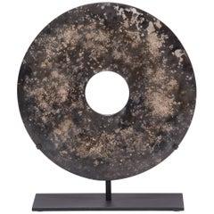 Chinese Mottled Jade Bi Disc