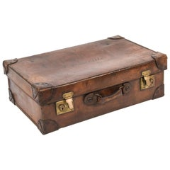 A.J. Saville Bombay Leather Luggage Suitcase