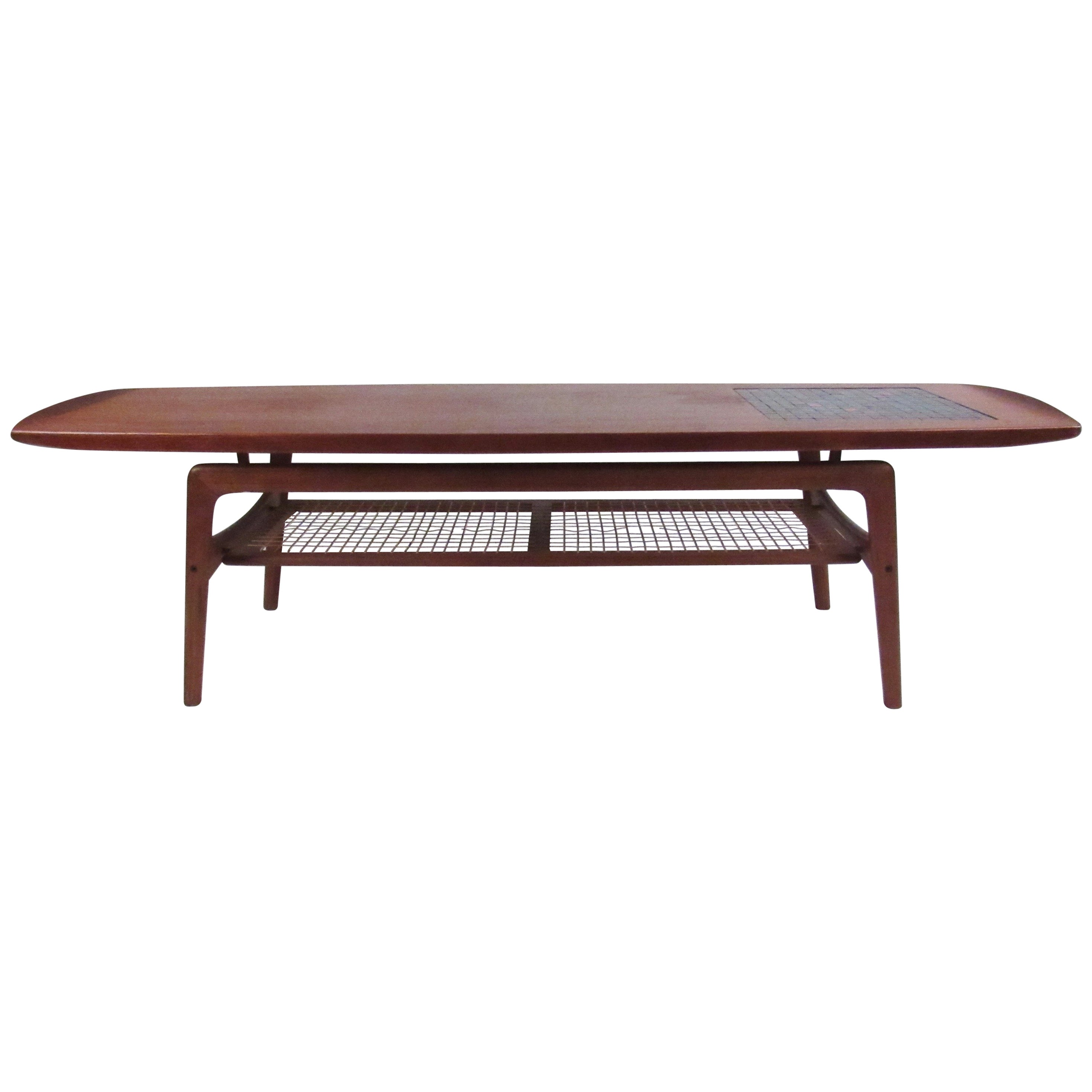 Danish Teak and Mosaic Coffee Table by Arne Hovmand-Olsen