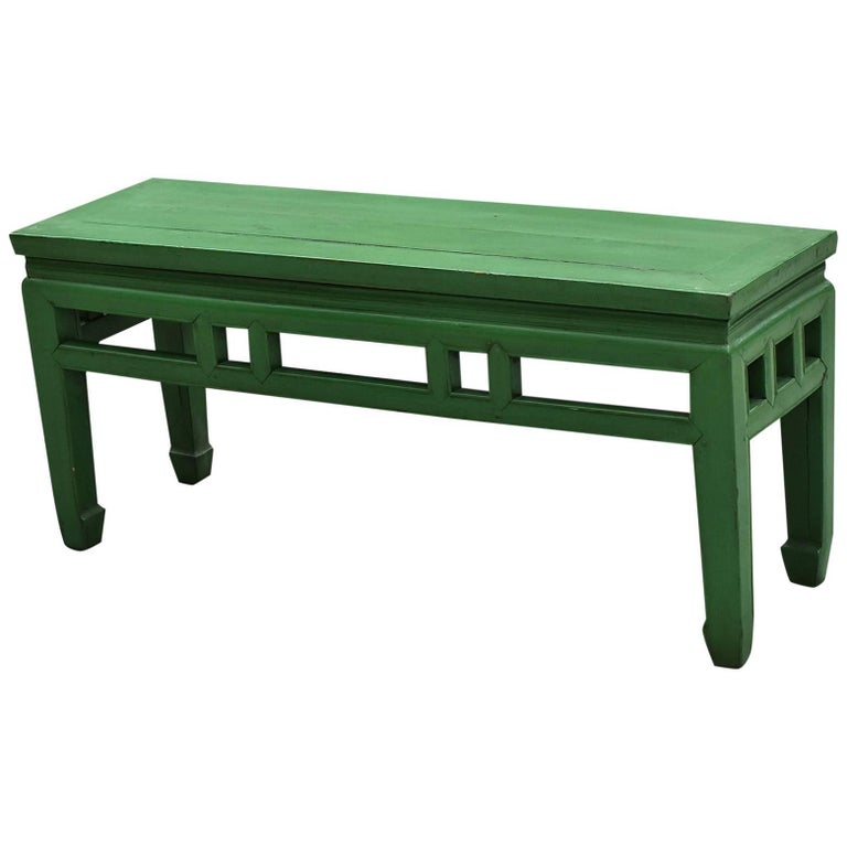 Antique Asian Bench Green Spring Bench For Sale At 1stdibs