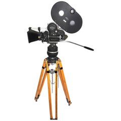 Arriflex Early 16mm Motion Picture Camera. Pristine Factory Correct Tripod