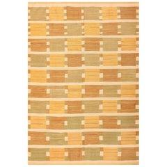 Vintage Scandinavian Inspired Modern Kilim Carpet