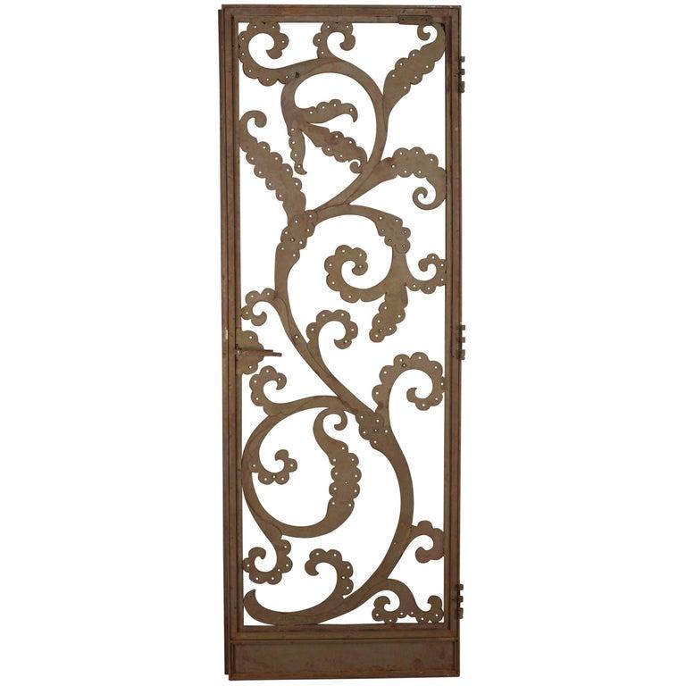Fantastic Antique Iron Side Door, circa 1920s