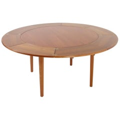 Danish Lotus Flip-Flap Dining Table from Dyrlund, 1960s