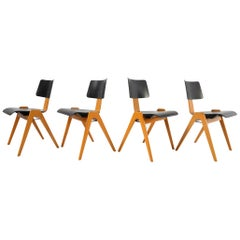 Robin Day Set of 4 Hille 'Hillestak' Stacking Midcentury Chairs, 1950s