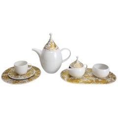 16-Piece Studio Line Tea Service for Six in Gilt Magic Flute, Rosenthal