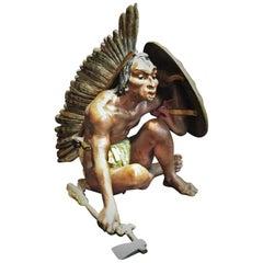 Franz Xaver Bergman, Native American Warrior, Vienna Bronze Sculpture, ca. 1900
