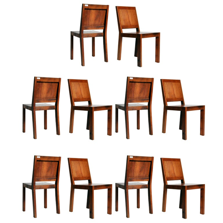 Reclaimed Teak Wood Chairs For Sale
