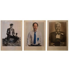 Set of Three Portraits of Comedians