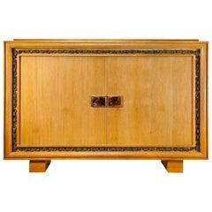 Jacques Adnet & Maurice Savin Oak Cabinet, 1940s