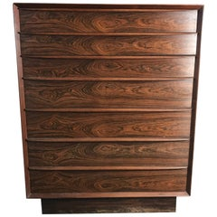 Stunning Rosewood Falster Seven-Drawer Chest Made in Denmark