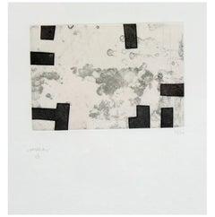 """Eduardo Chillida Original Pencil-Signed Etching, """"Emparantza 1"""""""