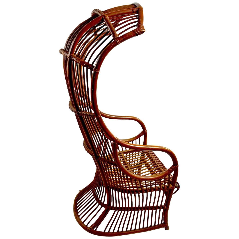 Dramatic Bamboo Hood Chair
