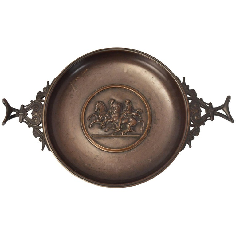 19th Century Bronze Tazza by Barbedienne