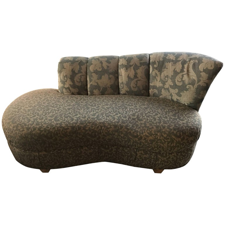 Wave Style Hollywood Regency Sofa