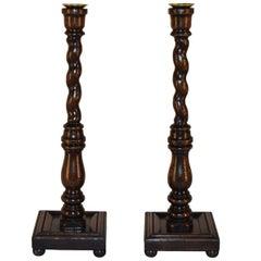 Pair of Unusual 19th Century Candlesticks