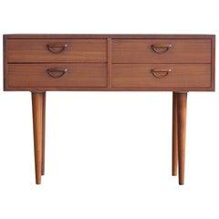 Kai Kristiansen Small Teak Console or Dresser for Feldballes Mobelfabrik, 1960s