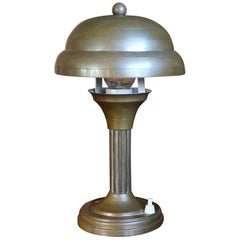 Stylish and Handcrafted Copper Metal Art Deco Table or Desk Lamp