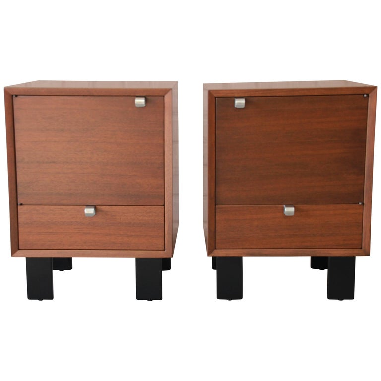 George Nelson for Herman Miller Nightstands, Pair