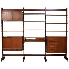 Midcentury Rosewood Shelfing System for Bernini Probably by Frattini