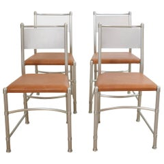 Set of Four Aluminium Dining Chairs Model 1131 by Warren McArthur