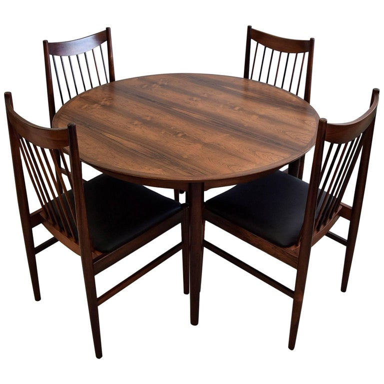 Arne Vodder Mid Century Modern Rosewood Dining Room Set For Sale