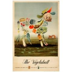 Original Vintage WWII Food Propaganda Poster By Lewitt-Him - The Vegetabull