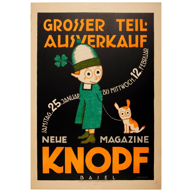 Original Vintage Poster By Hunziker For A Sale At Knopf Childrens