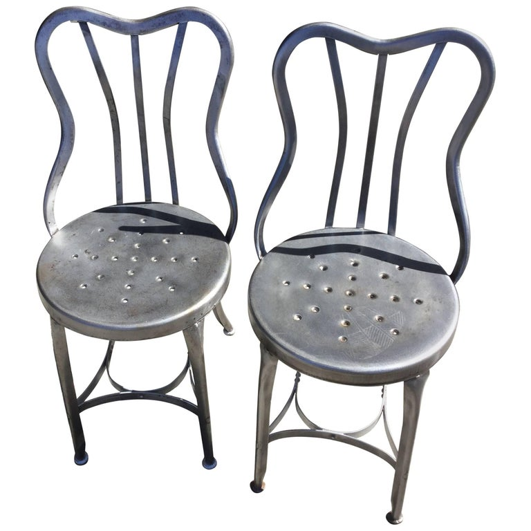 Pair of early toledo bistro chairs for sale at stdibs