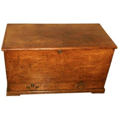 Georgian Golden Finish Oak 2 Drawer Mule Chest