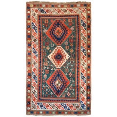 Late 19th Century Antique Caucasian Kazak Rug