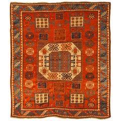 Late 19th Century Caucasian Karachopf Kazak Rug